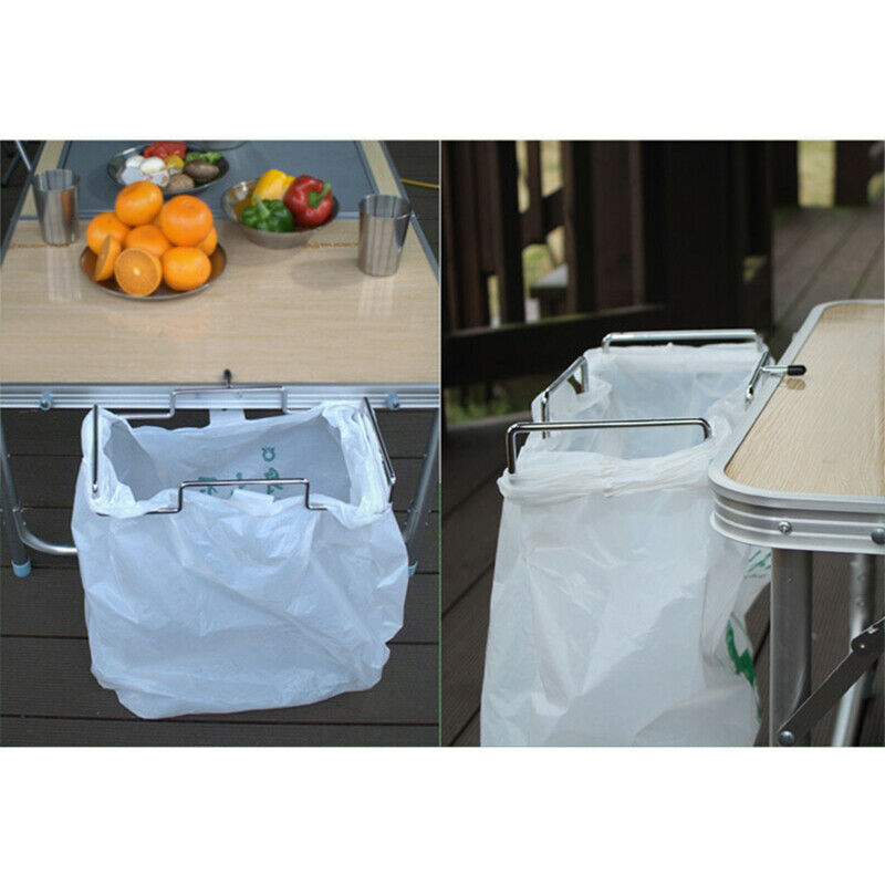 Door Garbage Trash Bag Towel Can Rack Holder Kitchen Tool BBQ Camping Outdoor/_PF