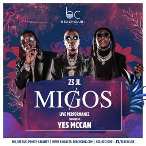 Migos au Beach Club (VIP)