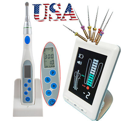 Dental Cordless Endo Motor Contra Angle Handpiece Apex Locator Root Canal Meter