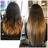 SAME DAY HAIR EXTENSIONS/  in salon MOBILE SERVICES! HOT FUSIONS