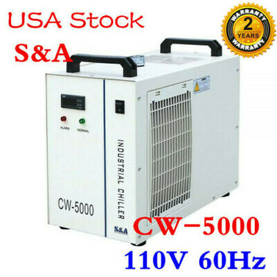 Usa - 110v Cw-5000dg Industrial Water Chiller For A 80w 100w Co2 Laser Tube