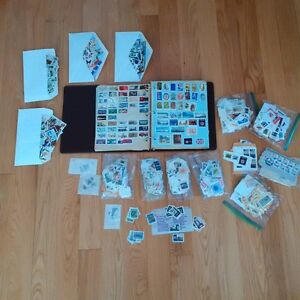 Stamp collection/ collection de  timbres