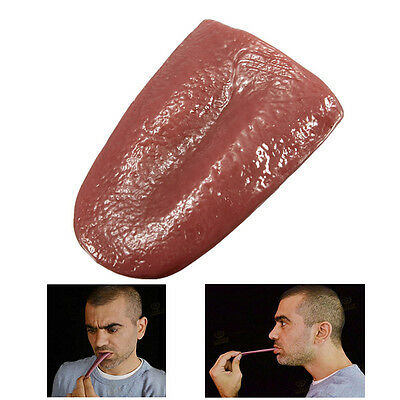 Realistic Tongue Gross Jokes Prank Magic Tricks Halloween Terrible Magician 889