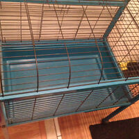 Blue cage perfect for a rabbit or Guinea pig $50