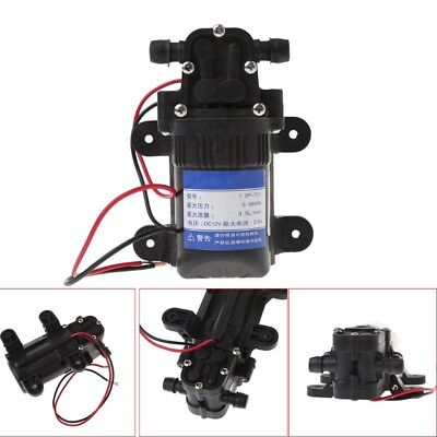 Dc 12v 3.5lmin 0.48mpa 70 Psi Diaphragm High Pressure Self Priming Water Pump