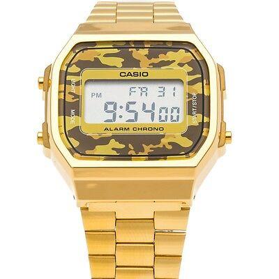 Gold Tarnung (Casio Gold Tarnung militärische ARID A168WEGC-5 UNISEX Uhren orologio montre)