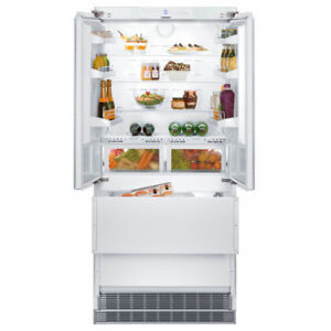 "Liebherr 36"" Integrated Panel Ready Built-In French Door Refrige"