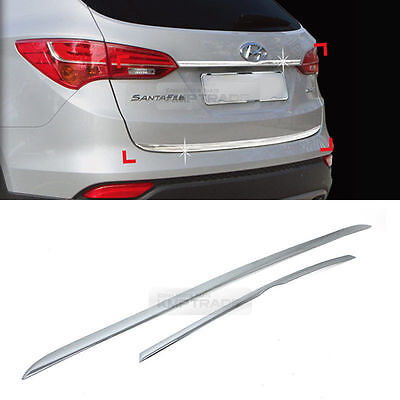 Chrome Trunk Garnish Molding Trim C753 for HYUNDAI 2013-2016 2018 Santa Fe DM
