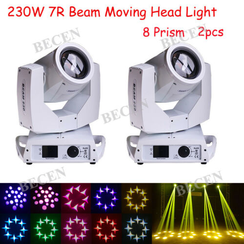 230w 16ch Touch Screen Sharp Beam Moving Head Light 7r For Dj Stage Light 2pcs