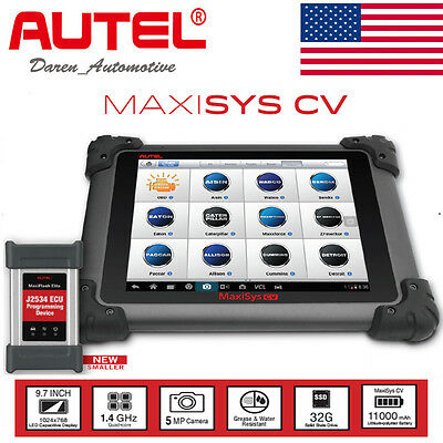 Autel Maxisys Ms908cv Heavy Duty Scan Tool Commercial Vehicle Diagnostics New