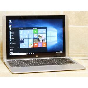 "HP x2 10-p011nr laptop 4 cores Webcam HDMI WiFi 2GB RAM 32GB 10"""