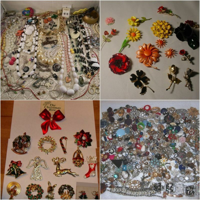 vintage jewellery sold by the lot