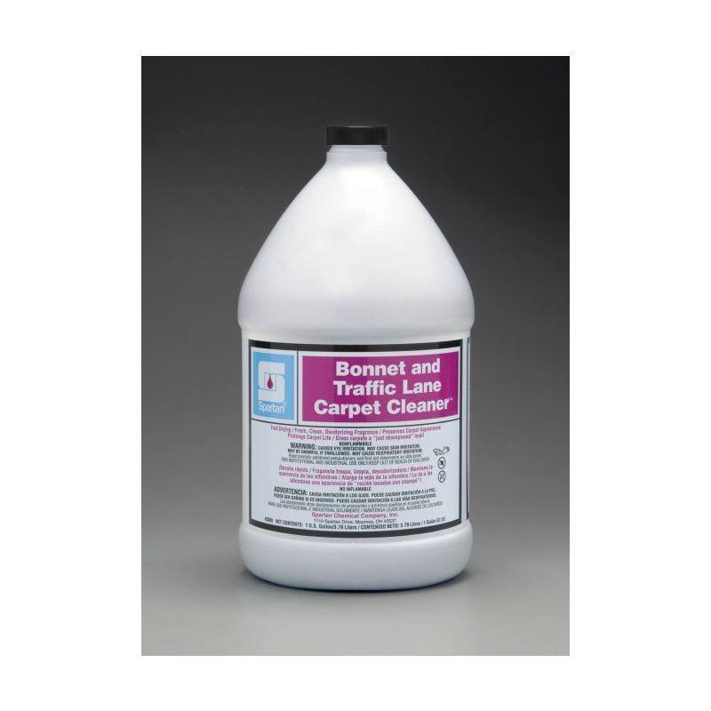 Spartan Bonnet Lane/Traffic Carpet Cleaner, Gallons, 4/Case