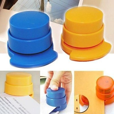 Office Home Staple Free Stapleless Stapler Paper Binding Binder Paperclip Use