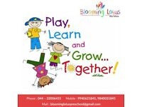 Best Playschool in Annanagar, Chennai.