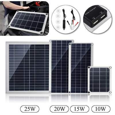 25W 12V/5V Solarpanel Solarmodul Ladegerät USB für Auto Boot Caravan Netzteil DE Usb Solar Panel