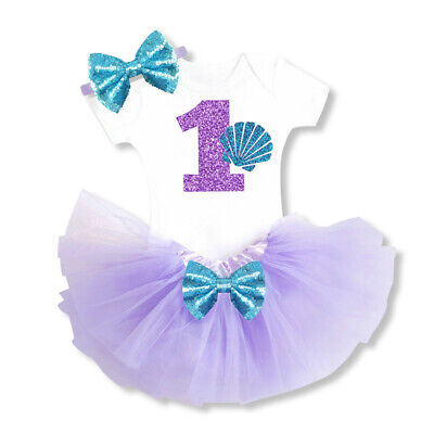 Mermaid Halloween Costume Baby (Baby Girl 1st Birthday Dress Outfits Little Mermaid Clothes Halloween)