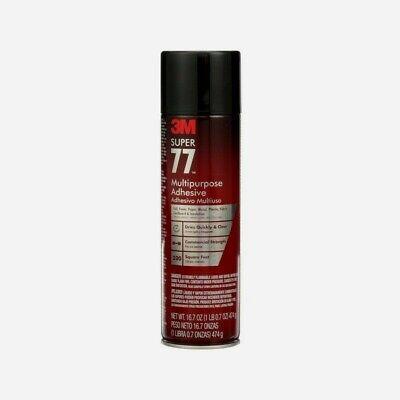 3m Super 77 Multi-purpose Adhesive Spray 16.75 Oz. Commercial Strength 77-24 New