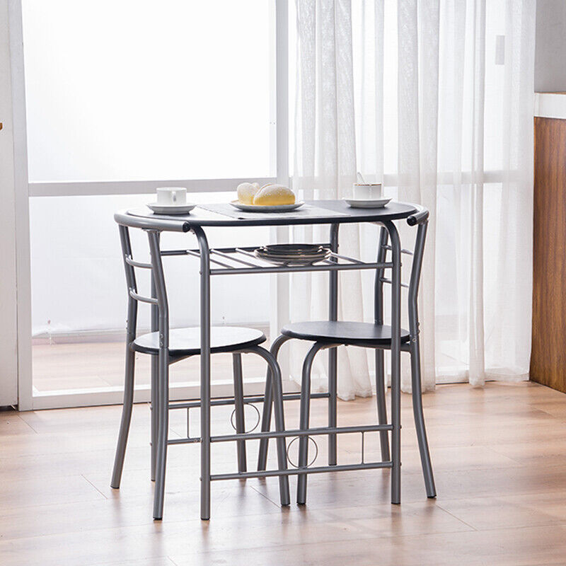Dinning Table and 2 Chair Set of 3 Piece Breakfast Compact K