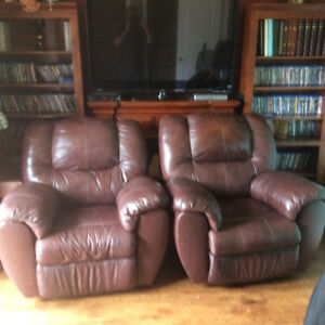 leather rockers and recliners