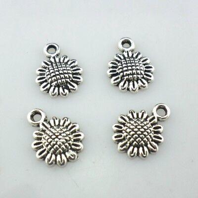 30/150/1200pcs Tibetan Silver Sunflower Flowers Charms Pendants Jewelry Making  (Sunflower Charm)