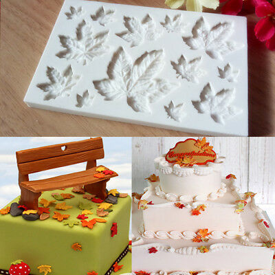 Maple Leaf Silicone Fondant Mold Cake Decorating Chocolate Sugarcraft Mould Hot Maple Hot Chocolate