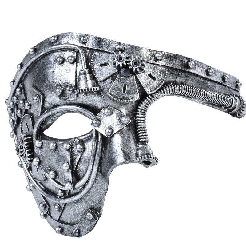 Costume Mask Vintage Steampunk Half Face Halloween Party Mas