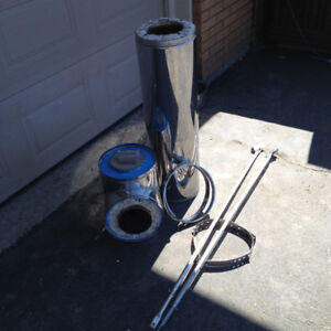 Like new stove pipe and accesories