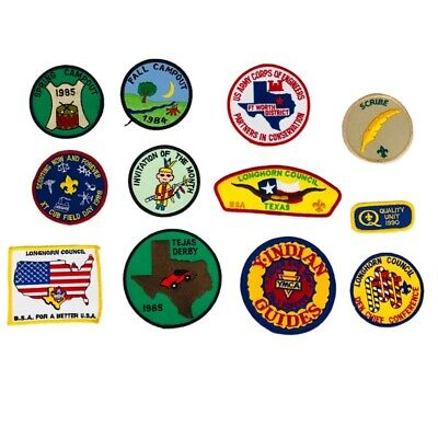 Fraternal Organizations Mixed Lot 12 Patches Multicolor Boy Scouts Guides