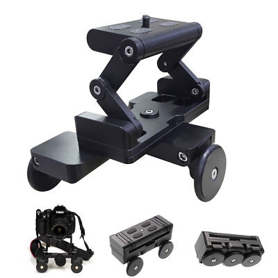 Foldable Video Rolling Track Slider Dolly Car Skater Stabilizer for Camera Phone
