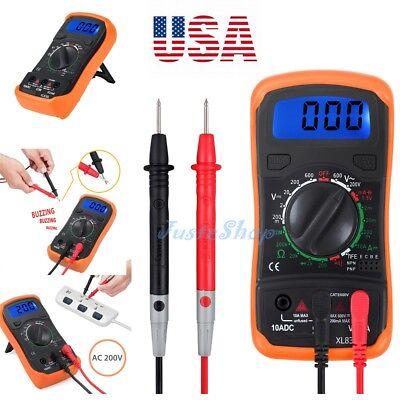 Digital Lcd Multimeter Current Tester Meter Ammeter Ohmmeter Ohm Volt Ac Dc