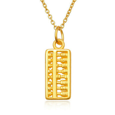 Pure 24k Yellow Gold Pendant / 3D Charm Abacus Pendant Baby Gift Women's Lucky