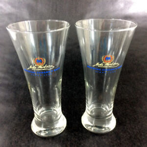 2 John Molson Beer Glasses Tall Pint 16 oz Ale Brewery Collect
