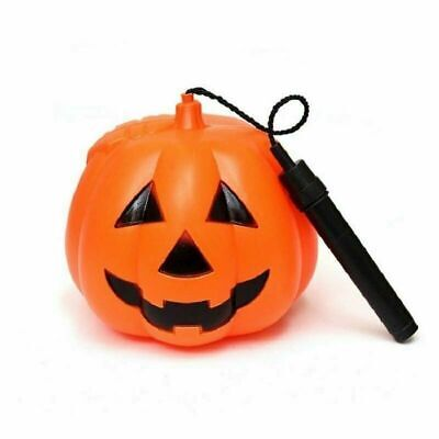 Lighted Pumpkins For Halloween (Pumpkin Light Lantern Handheld Handle Durable For Halloween Trick or Treating)