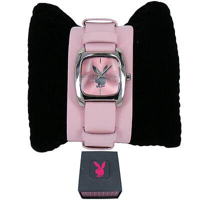 Playboy Pink Cuff Gorgeous Strap Ladies Love Gift Watch PB0128PK With Gift Box - Playboy Ladies Watch