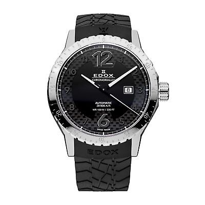 Edox 800943NN Men's Chronorally1 black Automatic Watch