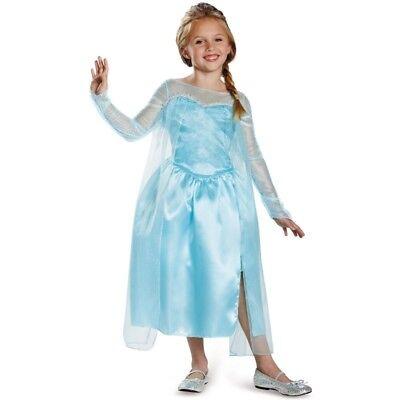 Disney Frozen Elsa Snow Queen Girl's Halloween Costume Dress-Up 4-6X Small #5343