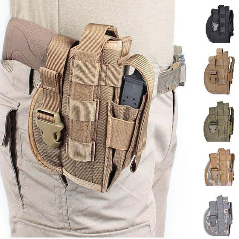 Military Army Tactical Pistol Gun Molle Belt Holster Right Handed Pistol Holster