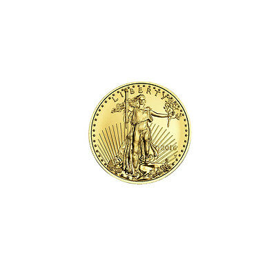 2016 Gold American Eagle (GAE) 1/10oz (Tenth Ounce) $5 New