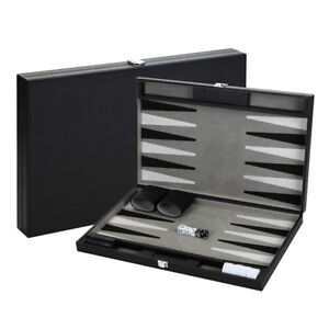Hathaway Premium Backgammon Set Black BG2120