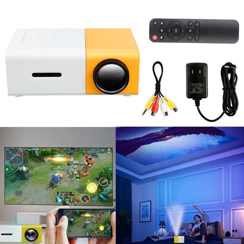 portable mini projector yg300 3d hd led