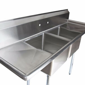Commercial kitchen sink and glass washer