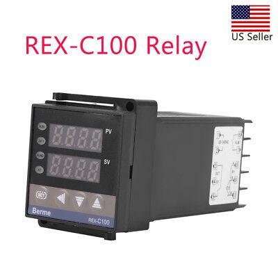 Pid Digital Temperature Controller Rex-c100 100 - 240v K Type Input Ssr Output