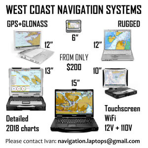 Navigation SYSTEMS for West Coast - 5 to 15 inches