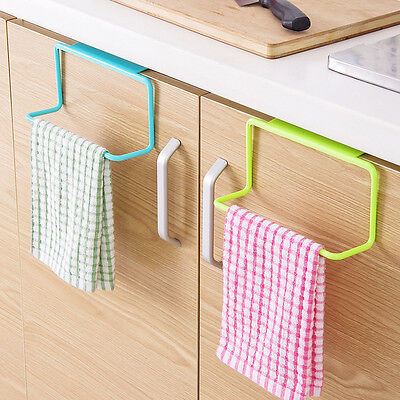 Towel Holder Rack Kitchen Storage Organizer Bathroom Cabinet Hanging Hanger
