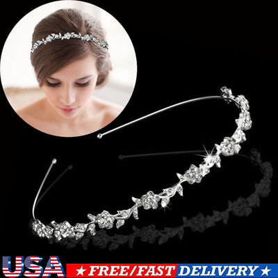 Bridal Wedding Crown Rhinestone Crystal Pearls Tiaras & Headbands Hair Jewelry , used for sale  Shipping to Nigeria