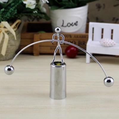 Home Cradle (Pendulum Cradle Balance Home Decor Ball Tumbler Desk Metal Science Physics Toy)