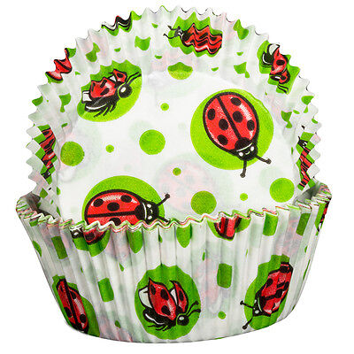 Lady Bird Cupcake Cases x60 Baking Muffin cute insect pattern
