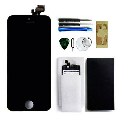 "4"" Black LCD Display Touch Screen Digitizer Assembly Replacement For iPhone 5 US"