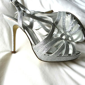 Metallic Silver Sandals for Graduation Wedding Sandal Argent 7